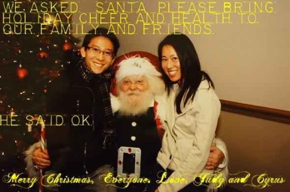 Judy and Cyrus Christmas 2011