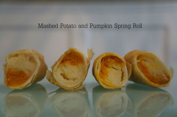 Mashed Potato and Pumpkin Spring Roll