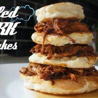 Birthday Breakfast: Pulled Pork Pancakes