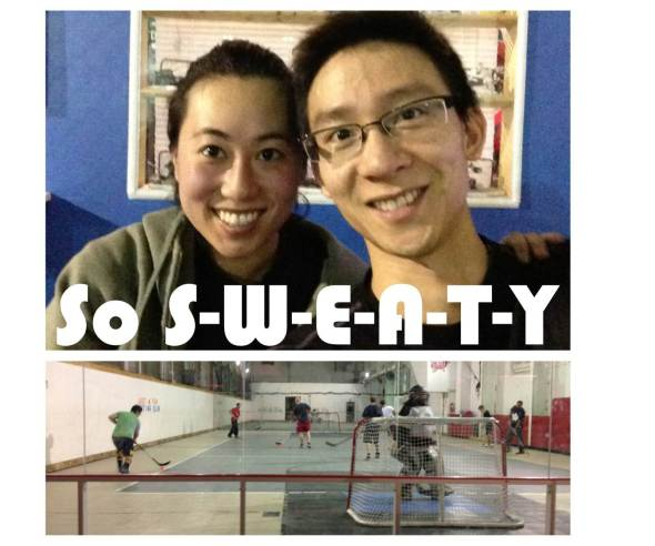 Judy and Cyrus play floor hockey at Just 4 Fun TSSC-OurTorontoLife