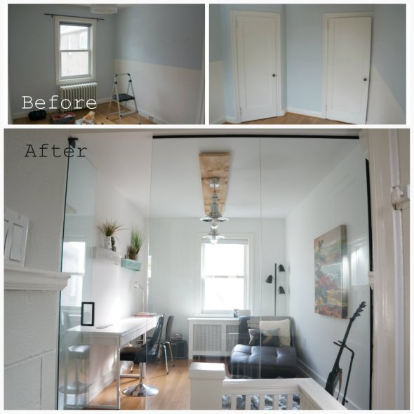 Before and After Office Makeover DIY OurTorontoLife