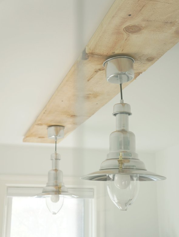 The office makeover our toronto life - Diy ceiling light fixtures ...